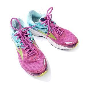 Brooks Ravenna sz8.5 hot pink /blue running shoe
